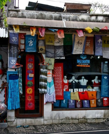 Shop in Ubud...there were lots like this.