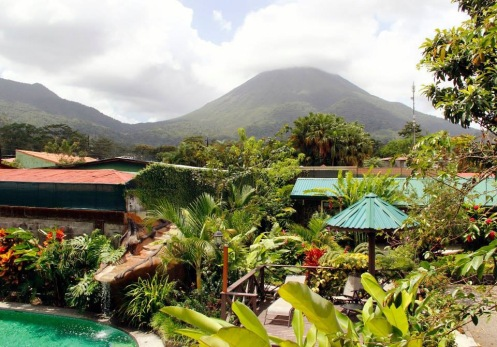 View of Arenal Volcano from hotel